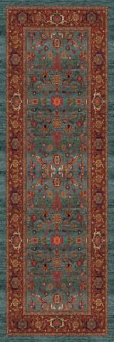 فرش مدما - فرش نکیسا - فرش کلاسیک - فرش سبز آبی - فرش سایز ٠.۸٠ متر در ۲.۴ متر - فرش هشتاد سانت در دو متر و چهل سانت - فرش 80 سانت در 2 متر و 40 سانت - فرش عرض هشتاد سانت - فرش طول دو متر و چهل سانت