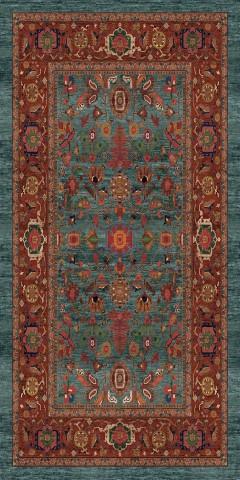 فرش مدما - فرش نکیسا - فرش کلاسیک - فرش سبز آبی - فرش سایز ۱.۲ متر در ۲.۴ متر - فرش صد و بيست سانت در دو متر و چهل سانت - فرش 120 سانت در 240 سانت - فرش عرض صد و بيست سانت - فرش طول دو متر و چهل سانت