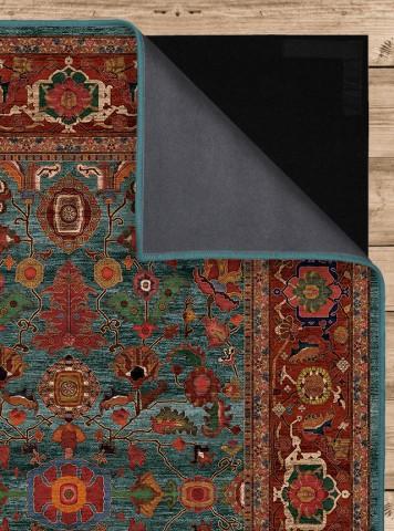 فرش مدما - فرش نکیسا - فرش کلاسیک - فرش سبز آبی - فرش سایز ۱ متر در ۲ متر - فرش دو متري - فرش 2 متري - فرش عرض يک متر - فرش طول دو متر