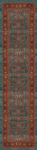 فرش مدما - فرش نکیسا - فرش کلاسیک - فرش سبز آبی - فرش سایز ۱ متر در ۴ متر - فرش چهار متري - فرش 4 متري - فرش عرض يک متر - فرش طول چهار متر