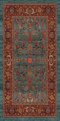 فرش مدما - فرش نکیسا - فرش کلاسیک - فرش سبز آبی - فرش سایز پادری - فرش سايز پادري - فرش 45 سانت در 90 سانت - فرش عرض چهل و پنج سانت - فرش طول نود سانت