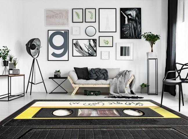 فرش مدما - فرش ایرانی شاد - فرش مدرن - فرش مشکی - فرش سایز ۲.۲۵ متر در۳.۴ متر - فرش هشت متري - فرش 8 متري - فرش عرض دو متر و بيست و پنج سانت - فرش طول سه متر و چهل سانت