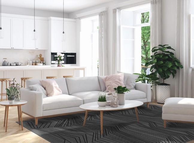 فرش مدما - فرش شروین - فرش هندسی - فرش نقره ای - فرش سایز ۲.۲۵ متر در۳.۴ متر - فرش هشت متري - فرش 8 متري - فرش عرض دو متر و بيست و پنج سانت - فرش طول سه متر و چهل سانت