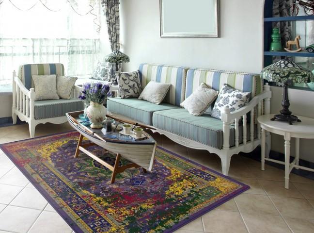 فرش مدما - فرش بهدیس - فرش کهنه نما - فرش بنفش - فرش سایز ۲.۲۵ متر در۳.۴ متر - فرش هشت متري - فرش 8 متري - فرش عرض دو متر و بيست و پنج سانت - فرش طول سه متر و چهل سانت