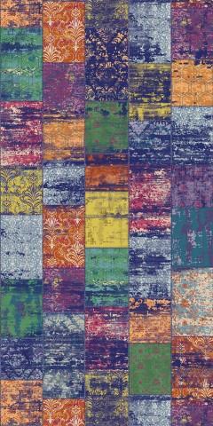 فرش مدما - فرش الیکا - فرش چهار خانه - فرش بنفش - فرش سایز ۱ متر در ۲ متر - فرش دو متري - فرش 2 متري - فرش عرض يک متر - فرش طول دو متر