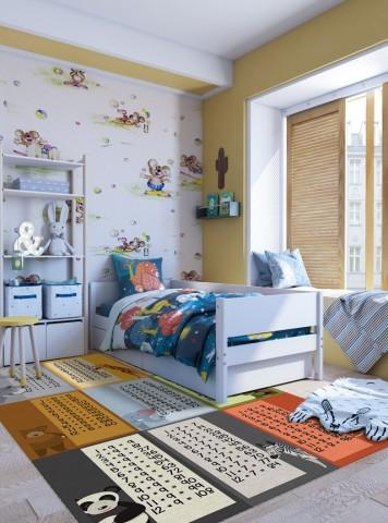 فرش مدما - فرش جدول ضرب 1 - فرش کودک - فرش سبز - فرش سایز ۲.۲۵ متر در۳.۴ متر - فرش هشت متري - فرش 8 متري - فرش عرض دو متر و بيست و پنج سانت - فرش طول سه متر و چهل سانت