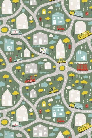 فرش مدما - فرش شهر کودک 3 - فرش کودک - فرش سبز - فرش سایز ۲.۲۵ متر در۳.۴ متر - فرش هشت متري - فرش 8 متري - فرش عرض دو متر و بيست و پنج سانت - فرش طول سه متر و چهل سانت