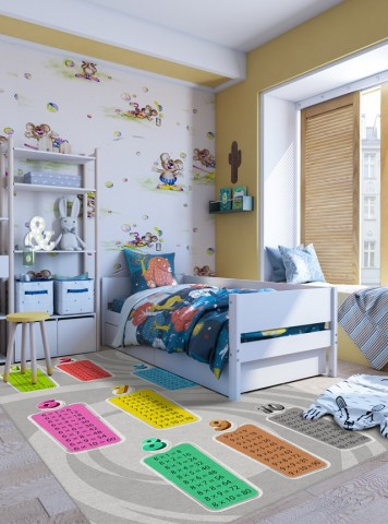 فرش مدما - فرش جدول ضرب 2 - فرش کودک - فرش طوسی - فرش سایز ۲.۲۵ متر در۳.۴ متر - فرش هشت متري - فرش 8 متري - فرش عرض دو متر و بيست و پنج سانت - فرش طول سه متر و چهل سانت
