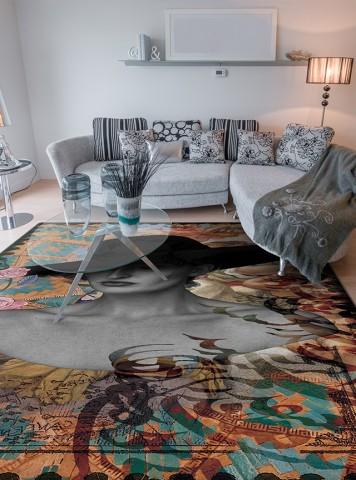 فرش مدما - فرش آشوب - فرش خط نقاشی - فرش کرمی - فرش سایز ۱ متر در ۱.۵ متر - فرش يک و نيم متري - فرش 1.5 متري - فرش عرض يک متر - فرش طول يک و نيم متر