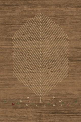 فرش مدما - فرش آشیان - فرش گبه و عشایر - فرش قهوه ای - فرش سایز ۲.۲۵ متر در۳.۴ متر - فرش هشت متري - فرش 8 متري - فرش عرض دو متر و بيست و پنج سانت - فرش طول سه متر و چهل سانت
