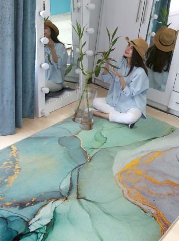 فرش مدما - فرش هیلان - فرش مدرن - فرش آبی - فرش سایز ۲ متر در ۳ متر - فرش شش متري - فرش 6 متري - فرش عرض دو متر - فرش طول سه متر