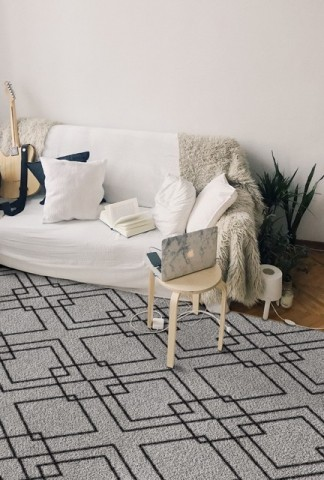 فرش مدما - فرش رابی - فرش هندسی - فرش کرمی - فرش سایز ۲.۲۵ متر در۳.۴ متر - فرش هشت متري - فرش 8 متري - فرش عرض دو متر و بيست و پنج سانت - فرش طول سه متر و چهل سانت