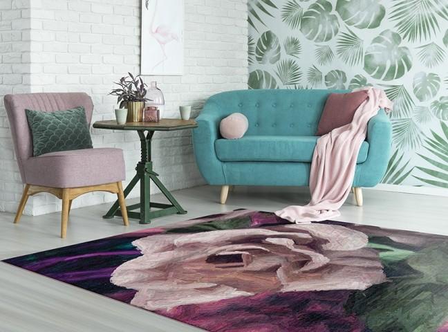 فرش مدما - فرش غنچه - فرش گل - فرش صورتی - فرش سایز ۲.۲۵ متر در۳.۴ متر - فرش هشت متري - فرش 8 متري - فرش عرض دو متر و بيست و پنج سانت - فرش طول سه متر و چهل سانت