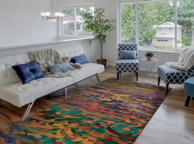 فرش مدما - فرش کرشمه - فرش خط نقاشی - فرش آبی - فرش سایز ٠.۸٠ متر در ۲.۴ متر - فرش هشتاد سانت در دو متر و چهل سانت - فرش 80 سانت در 2 متر و 40 سانت - فرش عرض هشتاد سانت - فرش طول دو متر و چهل سانت