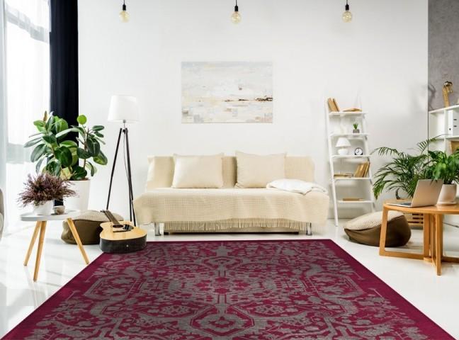 فرش مدما - فرش ابریشم - فرش کهنه نما - فرش صورتی - فرش سایز ۲.۲۵ متر در۳.۴ متر - فرش هشت متري - فرش 8 متري - فرش عرض دو متر و بيست و پنج سانت - فرش طول سه متر و چهل سانت