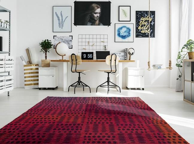 فرش مدما - فرش پروا - فرش مدرن - فرش صورتی - فرش سایز ۲.۲۵ متر در۳.۴ متر - فرش هشت متري - فرش 8 متري - فرش عرض دو متر و بيست و پنج سانت - فرش طول سه متر و چهل سانت