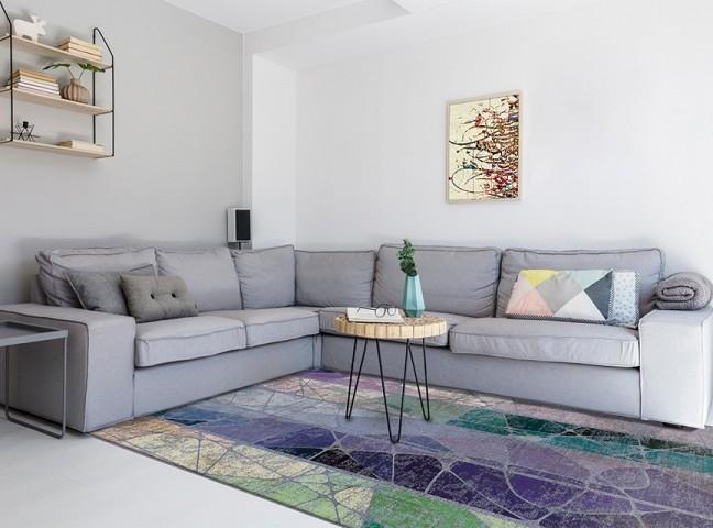 فرش مدما - فرش میترا - فرش مدرن - فرش بنفش - فرش سایز ۲.۲۵ متر در۳.۴ متر - فرش هشت متري - فرش 8 متري - فرش عرض دو متر و بيست و پنج سانت - فرش طول سه متر و چهل سانت