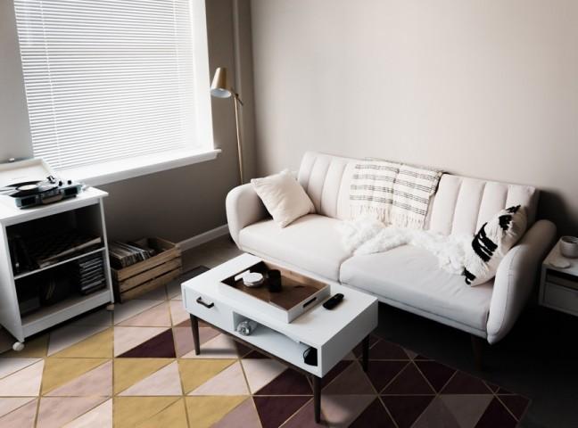 فرش مدما - فرش نیکا - فرش هندسی - فرش قهوه ای - فرش سایز ۲.۲۵ متر در۳.۴ متر - فرش هشت متري - فرش 8 متري - فرش عرض دو متر و بيست و پنج سانت - فرش طول سه متر و چهل سانت