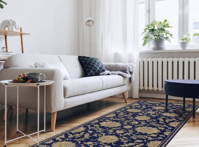 فرش مدما - فرش نازنین - فرش کلاسیک - فرش سرمه ای - فرش سایز ٠.۸٠ متر در ۲.۴ متر - فرش هشتاد سانت در دو متر و چهل سانت - فرش 80 سانت در 2 متر و 40 سانت - فرش عرض هشتاد سانت - فرش طول دو متر و چهل سانت
