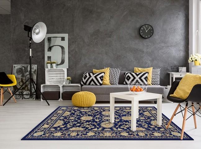 فرش مدما - فرش نازنین - فرش کلاسیک - فرش سرمه ای - فرش سایز ۲.۲۵ متر در۳.۴ متر - فرش هشت متري - فرش 8 متري - فرش عرض دو متر و بيست و پنج سانت - فرش طول سه متر و چهل سانت