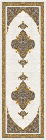 فرش مدما - فرش سیما - فرش کلاسیک - فرش کرمی - فرش سایز ٠.۸٠ متر در ۲.۴ متر - فرش هشتاد سانت در دو متر و چهل سانت - فرش 80 سانت در 2 متر و 40 سانت - فرش عرض هشتاد سانت - فرش طول دو متر و چهل سانت