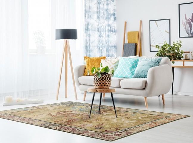 فرش مدما - فرش بهشت - فرش کهنه نما - فرش کرمی - فرش سایز ۲.۲۵ متر در۳.۴ متر - فرش هشت متري - فرش 8 متري - فرش عرض دو متر و بيست و پنج سانت - فرش طول سه متر و چهل سانت