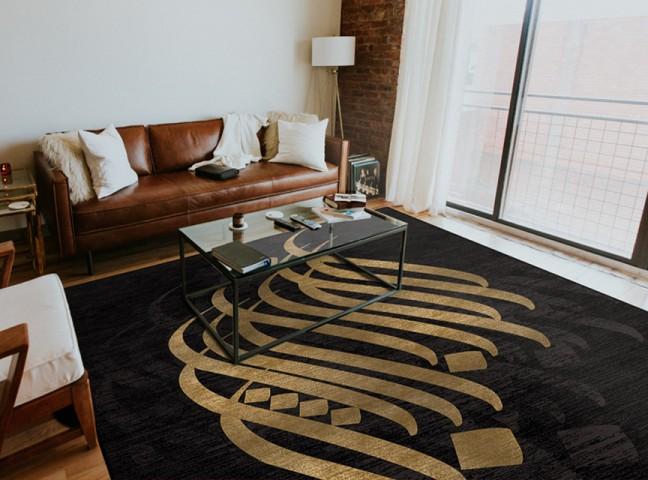 فرش مدما - فرش مهلا - فرش خط نقاشی - فرش مشکی - فرش سایز ۱ متر در ۱.۵ متر - فرش يک و نيم متري - فرش 1.5 متري - فرش عرض يک متر - فرش طول يک و نيم متر
