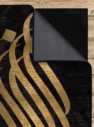 فرش مدما - فرش مهلا - فرش خط نقاشی - فرش مشکی - فرش سایز ۱ متر در ۲ متر - فرش دو متري - فرش 2 متري - فرش عرض يک متر - فرش طول دو متر