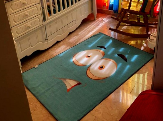 فرش مدما - فرش متعجب - فرش کودک - فرش آبی - فرش سایز ۲.۲۵ متر در۳.۴ متر - فرش هشت متري - فرش 8 متري - فرش عرض دو متر و بيست و پنج سانت - فرش طول سه متر و چهل سانت