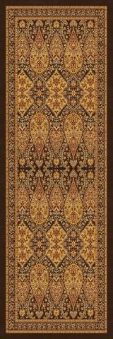 فرش مدما - فرش شهرزاد - فرش کلاسیک - فرش قهوه ای - فرش سایز ٠.۸٠ متر در ۲.۴ متر - فرش هشتاد سانت در دو متر و چهل سانت - فرش 80 سانت در 2 متر و 40 سانت - فرش عرض هشتاد سانت - فرش طول دو متر و چهل سانت