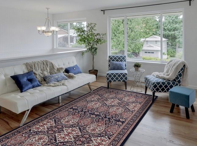 فرش مدما - فرش شهرزاد - فرش کلاسیک - فرش سرمه ای - فرش سایز ٠.۸٠ متر در ۲.۴ متر - فرش هشتاد سانت در دو متر و چهل سانت - فرش 80 سانت در 2 متر و 40 سانت - فرش عرض هشتاد سانت - فرش طول دو متر و چهل سانت