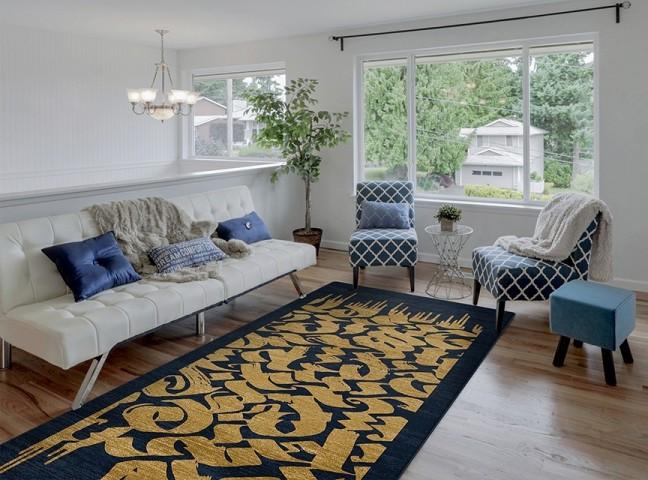فرش مدما - فرش چیستا - فرش خط نقاشی - فرش سرمه ای - فرش سایز ٠.۸٠ متر در ۲.۴ متر - فرش هشتاد سانت در دو متر و چهل سانت - فرش 80 سانت در 2 متر و 40 سانت - فرش عرض هشتاد سانت - فرش طول دو متر و چهل سانت