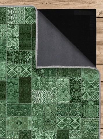 فرش مدما - فرش روناک - فرش چهار خانه - فرش سبز - فرش سایز ٠.۸٠ متر در ۱.۶ متر - فرش هشتاد سانت در يک متر و شصت سانت - فرش 80 سانت در 1 متر و 60 سانت - فرش عرض هشتاد سانت - فرش طول يک متر و شصت سانت