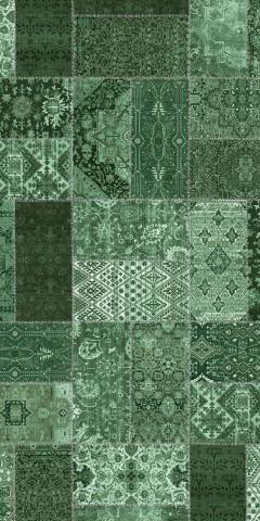فرش مدما - فرش روناک - فرش چهار خانه - فرش سبز - فرش سایز ۱ متر در ۲ متر - فرش دو متري - فرش 2 متري - فرش عرض يک متر - فرش طول دو متر