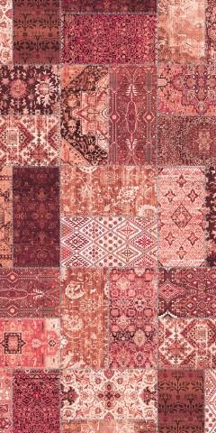 فرش مدما - فرش روناک - فرش چهار خانه - فرش قرمز - فرش سایز ۱ متر در ۲ متر - فرش دو متري - فرش 2 متري - فرش عرض يک متر - فرش طول دو متر
