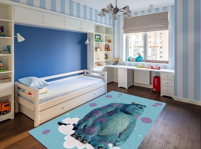 فرش مدما - فرش سالیوان - فرش کودک - فرش آبی - فرش سایز ۲.۲۵ متر در۳.۴ متر - فرش هشت متري - فرش 8 متري - فرش عرض دو متر و بيست و پنج سانت - فرش طول سه متر و چهل سانت