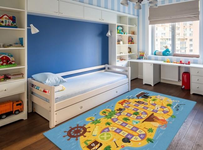 فرش مدما - فرش بازی 1 - فرش کودک - فرش آبی - فرش سایز ۲.۲۵ متر در۳.۴ متر - فرش هشت متري - فرش 8 متري - فرش عرض دو متر و بيست و پنج سانت - فرش طول سه متر و چهل سانت