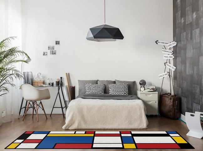 فرش مدما - فرش دی استیل - فرش چهار خانه - فرش آبی - فرش سایز ٠.۸٠ متر در ۲.۴ متر - فرش هشتاد سانت در دو متر و چهل سانت - فرش 80 سانت در 2 متر و 40 سانت - فرش عرض هشتاد سانت - فرش طول دو متر و چهل سانت