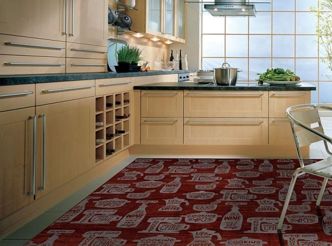 فرش مدما - فرش کوکینگ - فرش آشپزخانه - فرش قرمز - فرش سایز ۲.۲۵ متر در۳.۴ متر - فرش هشت متري - فرش 8 متري - فرش عرض دو متر و بيست و پنج سانت - فرش طول سه متر و چهل سانت