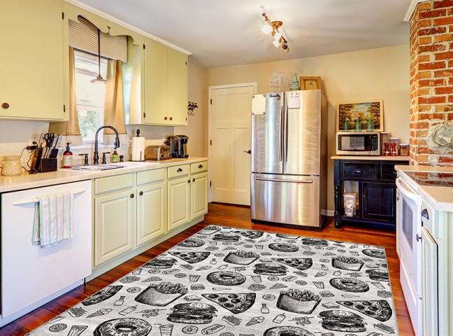 فرش مدما - فرش برگر - فرش آشپزخانه - فرش طوسی - فرش سایز ۲.۲۵ متر در۳.۴ متر - فرش هشت متري - فرش 8 متري - فرش عرض دو متر و بيست و پنج سانت - فرش طول سه متر و چهل سانت