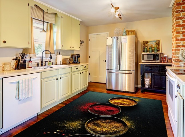 فرش مدما - فرش ماسالا - فرش آشپزخانه - فرش مشکی - فرش سایز ۲.۲۵ متر در۳.۴ متر - فرش هشت متري - فرش 8 متري - فرش عرض دو متر و بيست و پنج سانت - فرش طول سه متر و چهل سانت