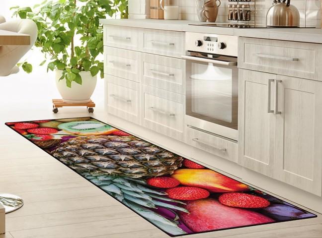 فرش مدما - فرش میوه ها - فرش آشپزخانه - فرش قرمز - فرش سایز ٠.۸٠ متر در ۲.۴ متر - فرش هشتاد سانت در دو متر و چهل سانت - فرش 80 سانت در 2 متر و 40 سانت - فرش عرض هشتاد سانت - فرش طول دو متر و چهل سانت