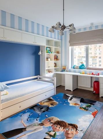 فرش مدما - فرش استورک - فرش کودک - فرش آبی - فرش سایز ۲.۲۵ متر در۳.۴ متر - فرش هشت متري - فرش 8 متري - فرش عرض دو متر و بيست و پنج سانت - فرش طول سه متر و چهل سانت
