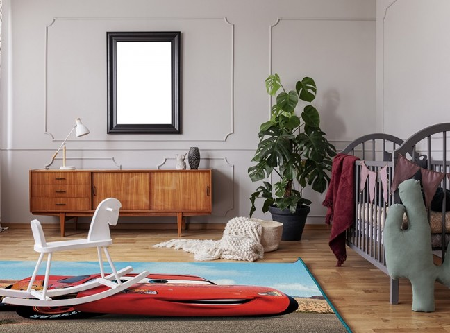 فرش مدما - فرش مک کویین 3 - فرش کودک - فرش آبی - فرش سایز ۲.۲۵ متر در۳.۴ متر - فرش هشت متري - فرش 8 متري - فرش عرض دو متر و بيست و پنج سانت - فرش طول سه متر و چهل سانت