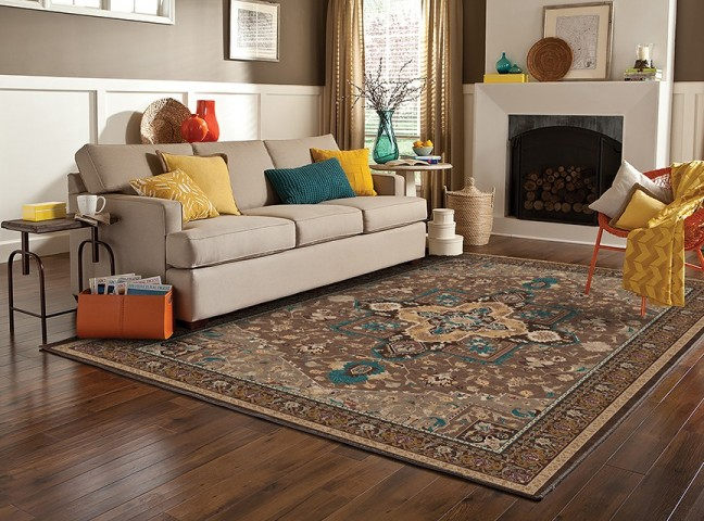 فرش مدما - فرش شمیسا - فرش کلاسیک - فرش قهوه ای - فرش سایز ۱.۲ متر در ۱.۸ متر - فرش صد و بيست سانت در يک متر و هشتاد سانت - فرش 120 در 180 سانت - فرش عرض صد و بيست سانت - فرش طول يک متر و هشتاد سانت