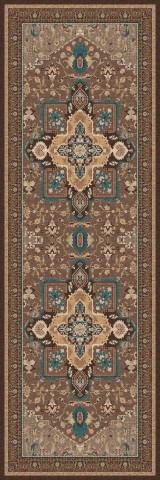 فرش مدما - فرش شمیسا - فرش کلاسیک - فرش قهوه ای - فرش سایز ٠.۸٠ متر در ۲.۴ متر - فرش هشتاد سانت در دو متر و چهل سانت - فرش 80 سانت در 2 متر و 40 سانت - فرش عرض هشتاد سانت - فرش طول دو متر و چهل سانت