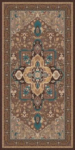 فرش مدما - فرش شمیسا - فرش کلاسیک - فرش قهوه ای - فرش سایز ۱.۲ متر در ۲.۴ متر - فرش صد و بيست سانت در دو متر و چهل سانت - فرش 120 سانت در 240 سانت - فرش عرض صد و بيست سانت - فرش طول دو متر و چهل سانت