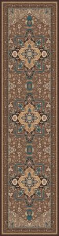 فرش مدما - فرش شمیسا - فرش کلاسیک - فرش قهوه ای - فرش سایز ٠.۸٠ متر  در ۳.۲ متر - فرش هشتاد سانت در سه متر و بيست سانت - فرش 80 سانت در 3 متر و 20 سانت - فرش عرض هشتاد سانت - فرش طول سه متر و بيست سانت