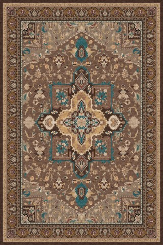 فرش مدما - فرش شمیسا - فرش کلاسیک - فرش قهوه ای - فرش سایز ۲.۲۵ متر در۳.۴ متر - فرش هشت متري - فرش 8 متري - فرش عرض دو متر و بيست و پنج سانت - فرش طول سه متر و چهل سانت