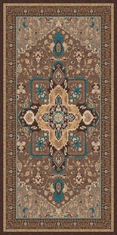 فرش مدما - فرش شمیسا - فرش کلاسیک - فرش قهوه ای - فرش سایز ۱ متر در ۲ متر - فرش دو متري - فرش 2 متري - فرش عرض يک متر - فرش طول دو متر